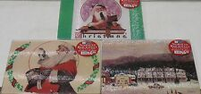 "3 pack Norman Rockwell Santa/Christmas Glass Cutting Boards 8"" x 10""each- Ltd Ed"