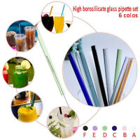 Reusable Straight-Pyrex Glass Drinking Straw for Wedding Birthday Party