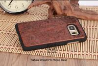 100% NATURALE IN LEGNO INTAGLIATO Custodia per Telefono Cover Samsung Galaxy S7