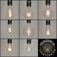 Vintage Industrial Flexible LED Filament Edison Light Bulbs E27 ES & B22 Bayonet