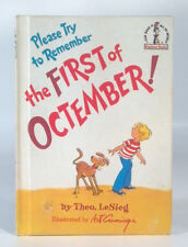 Vintage Dr Seuss Please Try To Remember The First Of Octember Beginner Books