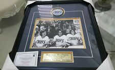 """HANSON BROTHERS AUTOGRAPHED ''OLD TIME HOCKEY"""" PHOTO & PUCK MEMORABILIA"""