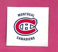 RARE 1970S MONTREAL CANADIENS PUCK BANK  STICKER  (INV# D3334)