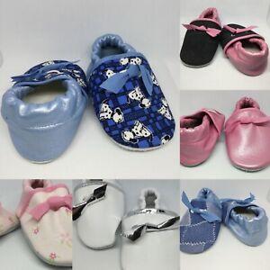 MajestiBallerina Baby Puschen Krabbelschuhe Lederpuschen Patschen Lauflernschuhe