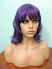 "14"" purple straight medium punk rock SHAG PAGE cut WIG by SEPIA / WEST BAY"