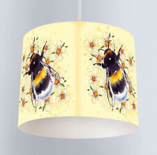 Yellow Bumble Bee (302) Girls Bedroom Living Room Drum Lampshade Light Shade