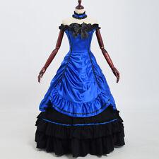 Women Victorian Bowknot Dress Reenactment Theater Cosplay Costume Ball Gown