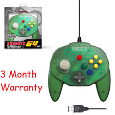 Retro-Bit Tribute N64 USB Controller for PC/Mac, Nintendo Switch Forest Green