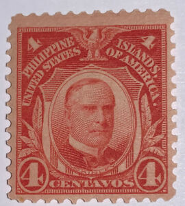Travelstamps: US Philippines stamps scott #242, 4 cent issue of 1906 Mint OG H
