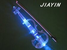 A new electronic violin 4/4 transparent with lamp stage play excellent results