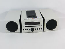 Yamaha MCR-D42 Kompaktanlage High End Stereo Anlage weiß mit USB + iPod Dock