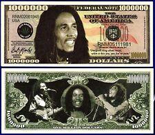 1- BOB MARLEY DOLLAR BILL--Novelty - Collectible- FAKE- MONEY item P