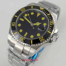 43mm Parnis black dial Sapphire glass date window automatic mens watch P1055