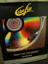Cabo Frio Large Rare Promo Poster Right On The Money - needle on record player
