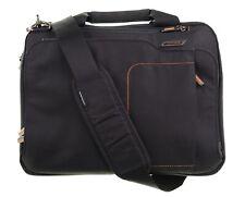 Briggs & Riley Verb Speedy Mini Laptop Black Canvas Messenger Bag Briefcase