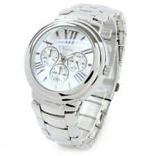 Silver Bracelet 3D Dial Heavy Oversized Women's Boyfriend Style Watch
