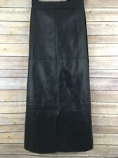 NWT: Melissa McCarthy Seven7 Long Black Faux Leather Skirt Plus Size 3X