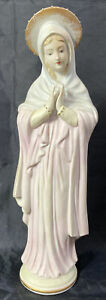Vintage VIRGIN MARY Bisque China Figurine ~ Lefton China ~ Made in Japan