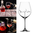 The Original Shark Wine Glass - Handmade Crystal Shark Wine Glasses
