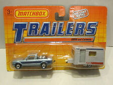 """Matchbox """" Trailers """" B.M.W. 323i CABRIOLET & CARAVAN all in Gray  New Old Stock"""