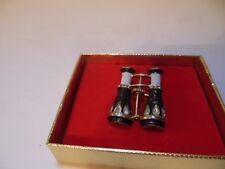 Vintage 1960's BSK Enameled My Fair Lady Binoculars Brooch Pin Rhinestones