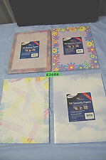 1-Lot of 3 Ampad PC Specialty Papers - Assorted Designs (#S3608)
