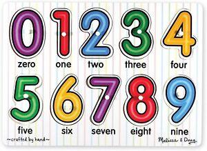 Melissa & Doug - Numbers Peg Puzzle 10pc