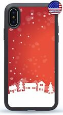 Merry Christmas Xmas Snow Rubber Case Cover iPhone 11 Pro Max Xs XR 8 Plus 7