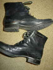 Women's Born Black Combat Boots Leather Size 10 42