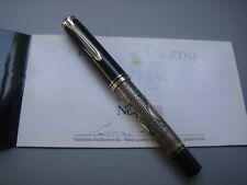 〝ULTRA RARE〞EBEL & Pelikan M910 925 Silver TOLEDO PF 18C Medium nib Fountain Pen
