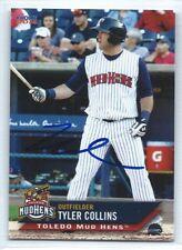 Tyler Collins signed 2014 Toledo Mud Hens baseball, Detroit Tigers autograph
