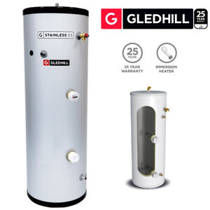 Gledhill ES 200L Direct Unvented Hot Water Cylinder Stainless Steel SESINPDR200