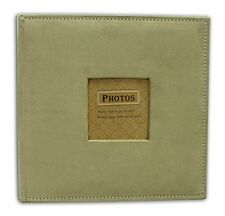 Photo Album Holds 200 4x6  Photo- 2 per page, Suede Cover, Beige