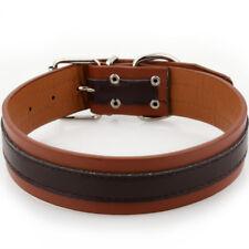 Soft Padded Wide Leather Big Dog Collars Durable for Medium Large Dog Rottweiler
