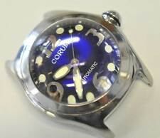 Rare Corum Bubble 44mm Steel watch automatik blue Dial 82.150.20