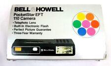Bell&Howell Pocket Star EFT 110 Camera Box Vintage Black Rarely Used 1979