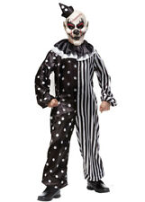 Kids Halloween Black and White Killer Clown Costume