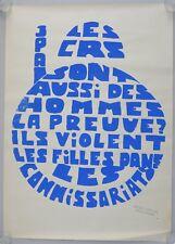 Affiche originale mai 68 LES CRS SONT AUSSI DES HOMMES... poster may 1968