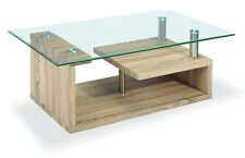 Bernard Coffee Table Natural Veneer and glass