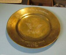 1959 1960 US Army Air Force HQ 7th Logistical Command Korea Brass Souvenir Plate