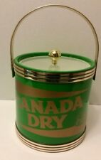 Canada Dry Ginger Ale Soft Drink Ice Bucket Vtg 1970