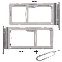 For Samsung Galaxy S10 / S10E / S10 Plus Sim Micro SD Card Tray Slot White + Pin
