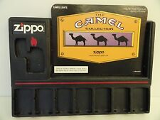 New Zippo Camel Display Holder and Card Set Holds 8 Lighters  (1996)