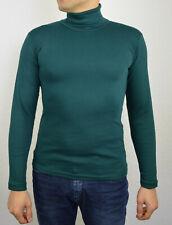 Herren Rollkragenpullover Longsleeve Pullover Sweatshirt Pulli Größe S Grün