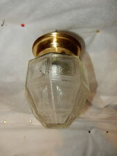 Art Deco Porch Light Fixture w/ Brass Finish