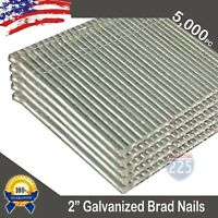 """2"""" Inch Length 16 Gauge Chisel Point Galvanized Finish Brad Nails 5,000 Count US"""