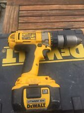 DEWALT DC988 18V XRP CORDLESS COMBI HAMMER DRILL - BODY & CASE AND BATTERY.