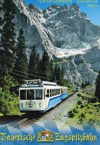 Postcard Railway Bayerische Zugspitzbahn Top Of Germany