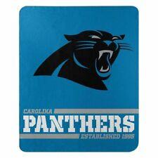 "New Carolina Panthers Nfl Split Wide Fleece Throw Blanket Large Size 50""x60"""