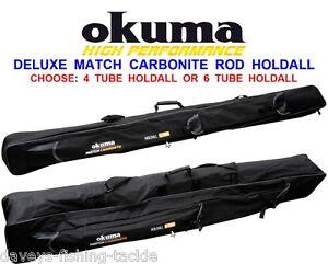 OKUMA MATCH CARBONITE ROD HOLDALL BAG FOR COARSE CARP FLOAT FEEDER SPOD MARKER